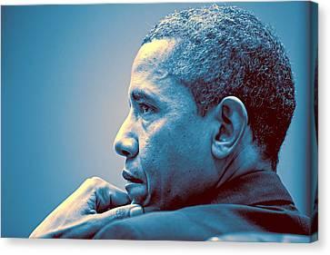 Barack Obama Canvas Print - Barack Obama At White House 1 by Celestial Images