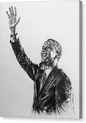Barack Obama Canvas Print by Darryl Matthews