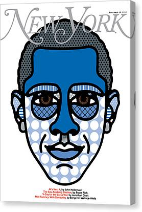 Presidential Elections Canvas Print - Barack Obama Is Reelected by Craig Redman