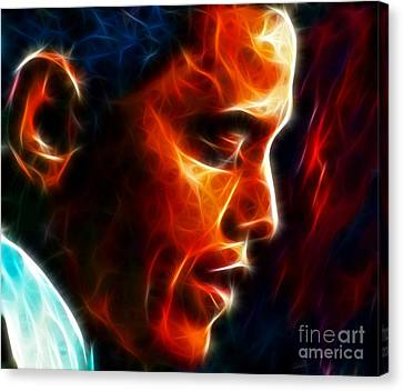 Barack Obama Canvas Print by Pamela Johnson