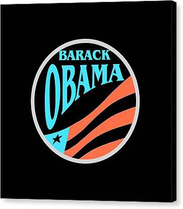 Barack Obama Canvas Print - Barack Obama Design by Art America Gallery Peter Potter