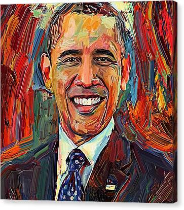 Barack Obama Portrait 2 Canvas Print