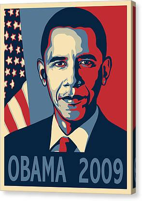 Barack Obama Canvas Print - Barack Obama Presidential Poster by Sue  Brehant