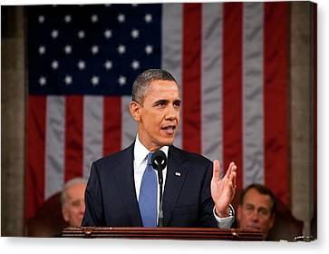 Barack Obama - State Of The Union Address Canvas Print