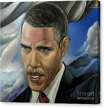Barack Canvas Print by Reggie Duffie