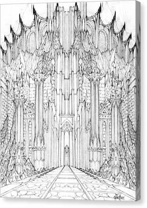 Barad-dur Gate Study Canvas Print by Curtiss Shaffer