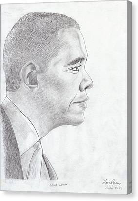 Barak Obama Canvas Print