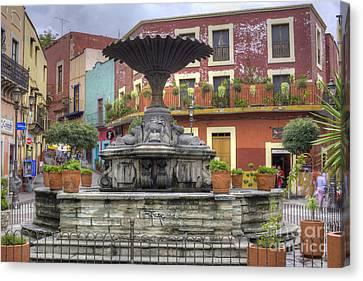 Baratillo Plaza Canvas Print