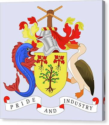 Barbados Coat Of Arms Canvas Print by Movie Poster Prints