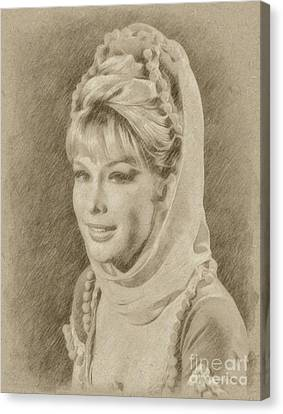 Barbara Eden, Actress, Jeannie Canvas Print by Frank Falcon