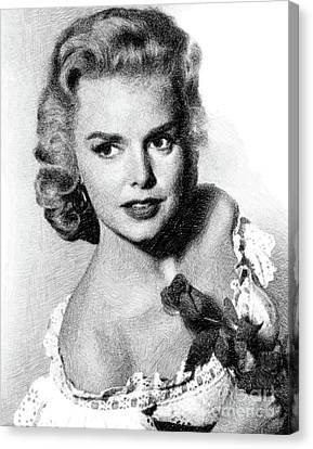 Actress Canvas Print - Barbara Lang, Vintage Actress By Js by John Springfield