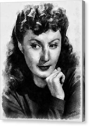 Barbara Stanwyck Hollywood Actress Canvas Print by Frank Falcon