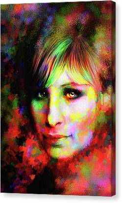 Barbara Streisand Canvas Print