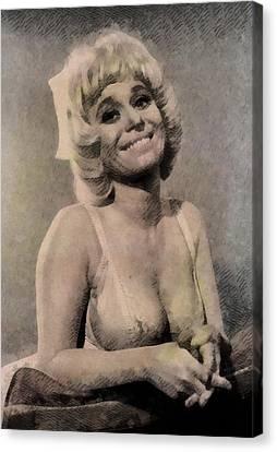 Barbara Windsor, Carry On Actress Canvas Print