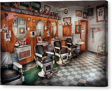 Barber - Frenchtown Barbers  Canvas Print
