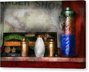 Barber - Things You Stare At  Canvas Print by Mike Savad