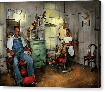 Canvas Print - Barber - Family Owned 1942 by Mike Savad