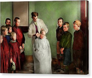 Canvas Print - Barber - Haircut Day 1918 by Mike Savad
