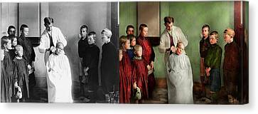 Canvas Print - Barber - Haircut Day 1918 - Side By Side by Mike Savad