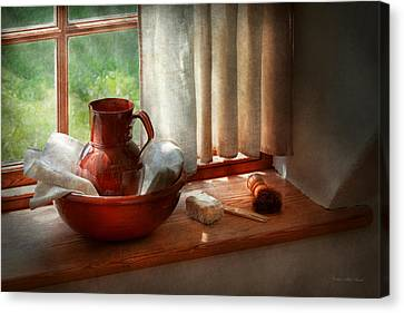 Barber - Morning Habits Canvas Print by Mike Savad