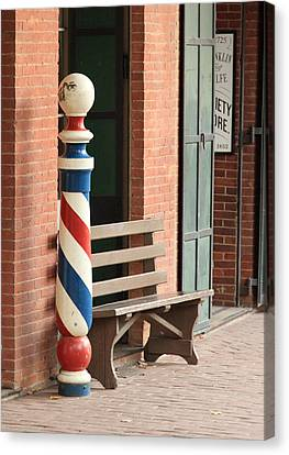 Barber Pole Columbia Ca Canvas Print by Troy Montemayor