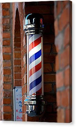 Barber Pole Canvas Print by Lisa Knechtel