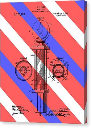 Barber Pole Patent Canvas Print by Dan Sproul