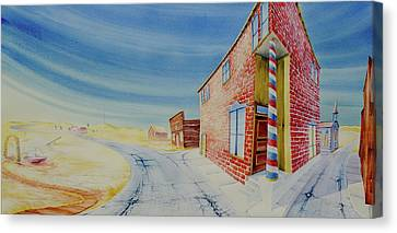 Canvas Print featuring the painting Barber Pole by Scott Kirby
