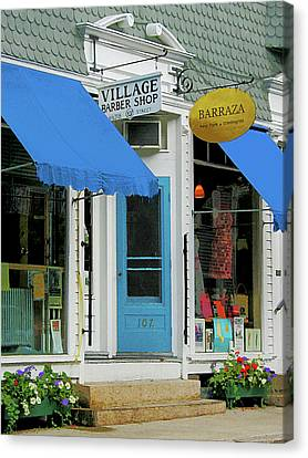 Barber Shop And Dress Shop Canvas Print by Susan Savad