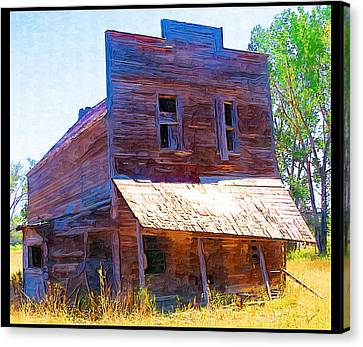 Canvas Print featuring the photograph Barber Store by Susan Kinney