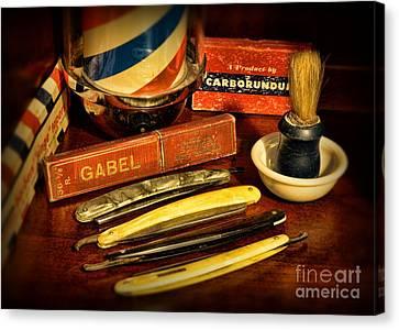 Barber - Vintage Barber Canvas Print by Paul Ward