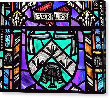 Canvas Print - Barbers Stained Glass by Jean Noren