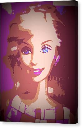 Barbie Hip To Be Square Canvas Print