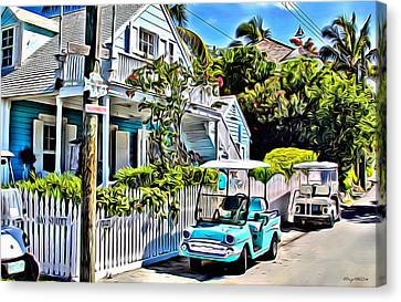 Harbour Island House Canvas Print by Anthony C Chen