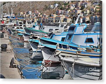 Harbour Of Simi Canvas Print
