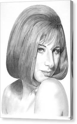 Barbra Streisand Canvas Print by Rob De Vries