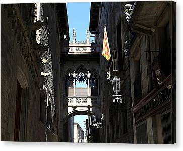 Canvas Print featuring the photograph Barcelona 1 by Andrew Fare
