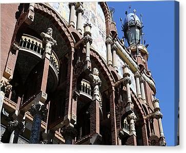 Canvas Print featuring the photograph Barcelona 4 by Andrew Fare