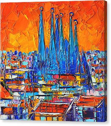 Barcelona Abstract Cityscape 7 - Sagrada Familia Canvas Print