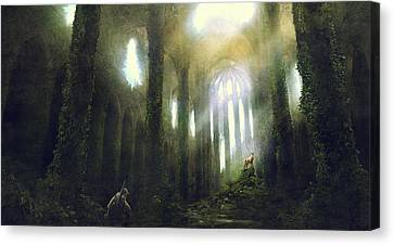Science Fiction Canvas Print - Barcelona Aftermath Santa Maria Del Mar by Guillem H Pongiluppi