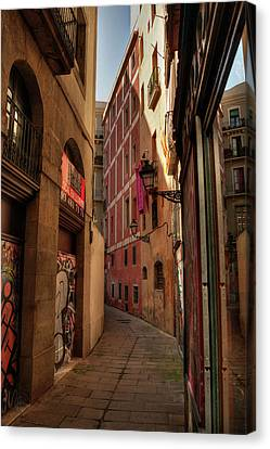 Canvas Print featuring the photograph Barcelona - Gothic Quarter 003 by Lance Vaughn