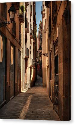 Canvas Print featuring the photograph Barcelona - Gothic Quarter 004 by Lance Vaughn