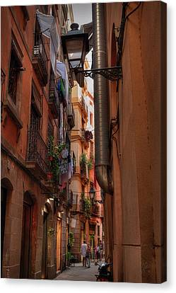 Canvas Print featuring the photograph Barcelona - Gothic Quarter 002 by Lance Vaughn
