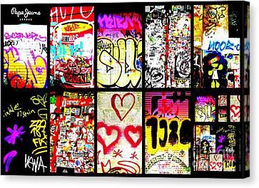 Barcelona Graffiti Wall  Canvas Print by Funkpix Photo Hunter