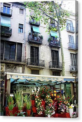 Barcelona Las Ramblas Canvas Print by Julie Palencia