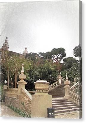 Barcelona, Magic Canvas Print by Joaquin Abella