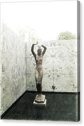 Barcelona - Mies Van Der Rohe Canvas Print by Joaquin Abella