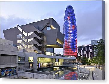 Canvas Print featuring the photograph Barcelona Modern Architecture by Marek Stepan