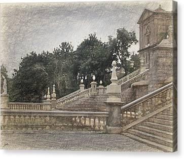 Barcelona, Montjuic Park Canvas Print by Joaquin Abella