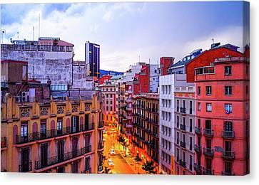 Barcelona Sunset Canvas Print by Saint Cloud